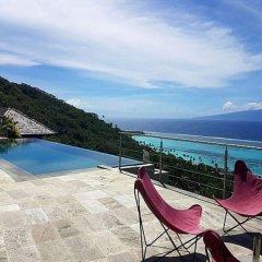 Отель Villa Manatea - Moorea Французская Полинезия, Папеэте - отзывы, цены и фото номеров - забронировать отель Villa Manatea - Moorea онлайн пляж фото 2
