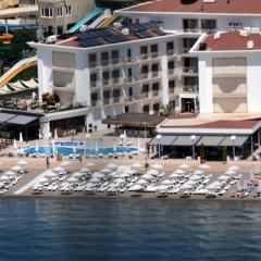 Paşa Garden Beach Hotel Турция, Мармарис - отзывы, цены и фото номеров - забронировать отель Paşa Garden Beach Hotel онлайн пляж