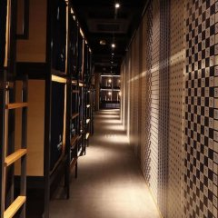 TRIP POD FUKUOKA -snack & bed- - Hostel Фукуока гостиничный бар