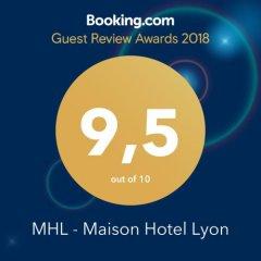 Отель MHL - Maison Hotel Lyon Франция, Лион - отзывы, цены и фото номеров - забронировать отель MHL - Maison Hotel Lyon онлайн с домашними животными