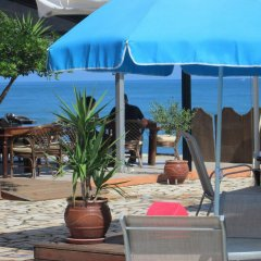 Отель Ninos On The Beach Корфу пляж