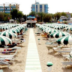Hotel Palm Beach Римини пляж