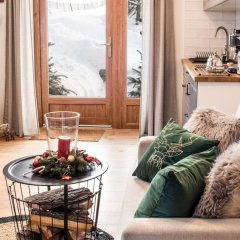 Апартаменты Luxury Apartment Gorsky Поронин комната для гостей фото 3