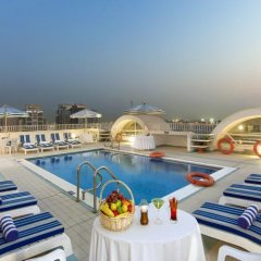 Отель Al Khaleej Plaza Дубай бассейн фото 3