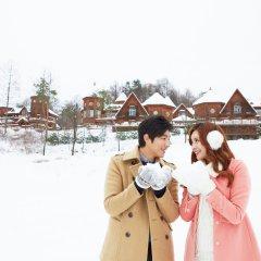 Отель KOREA QUALITY Elf Spa Resort Hotel Южная Корея, Пхёнчан - отзывы, цены и фото номеров - забронировать отель KOREA QUALITY Elf Spa Resort Hotel онлайн приотельная территория фото 2