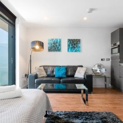 Апартаменты Lovely Studio W/balcony in Islington, 4 Guests комната для гостей фото 3