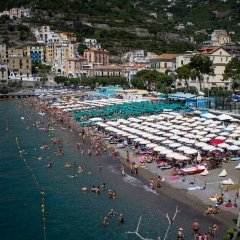 Hotel Santa Lucia Минори пляж фото 2