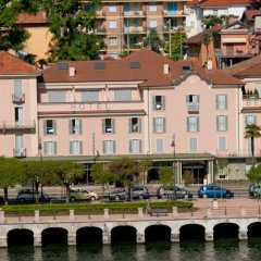 Hotel Beau Rivage Бавено приотельная территория