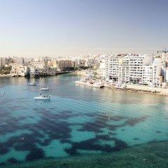Отель Cavalieri Art Hotel Мальта, Сан Джулианс - 11 отзывов об отеле, цены и фото номеров - забронировать отель Cavalieri Art Hotel онлайн пляж фото 2