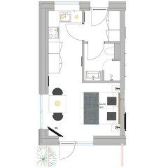 Апартаменты Aalborg Apartments Алборг балкон