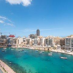 Отель Morina Penthouse Мальта, Сан Джулианс - отзывы, цены и фото номеров - забронировать отель Morina Penthouse онлайн пляж фото 2
