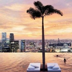 Отель Marina Bay Sands пляж фото 2