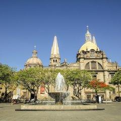 Отель Gamma Guadalajara Centro Historico Гвадалахара приотельная территория