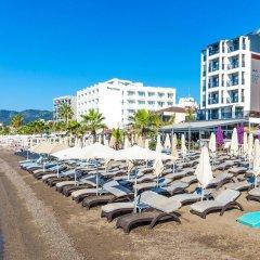 Aurasia Beach Hotel Турция, Мармарис - отзывы, цены и фото номеров - забронировать отель Aurasia Beach Hotel онлайн пляж