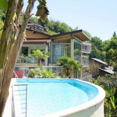 Отель Luxury Italian Lakes Villa With Private Pool, Gym, Bbq, Free Wifi, Lake Views Вербания бассейн