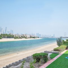 Отель Dream Inn Dubai-Luxury Palm Beach Villa пляж