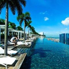 Отель Marina Bay Sands Сингапур бассейн фото 2