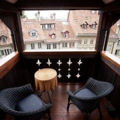 Отель Goldener Schlüssel Швейцария, Берн - 1 отзыв об отеле, цены и фото номеров - забронировать отель Goldener Schlüssel онлайн балкон
