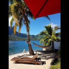 Отель Villa Oramarama - Moorea Французская Полинезия, Папеэте - отзывы, цены и фото номеров - забронировать отель Villa Oramarama - Moorea онлайн пляж фото 2