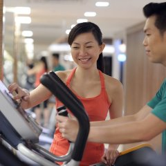 Отель Mandarin Orchard Singapore фитнесс-зал фото 2