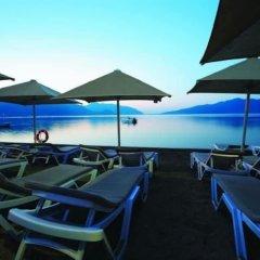Orka Nergis Beach Hotel Турция, Мармарис - отзывы, цены и фото номеров - забронировать отель Orka Nergis Beach Hotel онлайн пляж фото 2