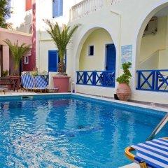 Отель Leta-Santorini Греция, Остров Санторини - отзывы, цены и фото номеров - забронировать отель Leta-Santorini онлайн бассейн фото 2