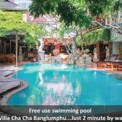 Отель Villa Cha Cha Rambuttri Бангкок бассейн