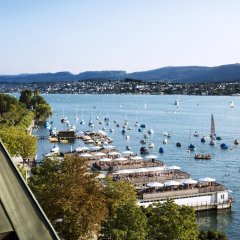 Отель La Reserve EDEN AU LAC Zurich пляж