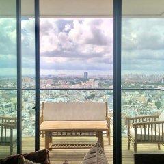 Gindi TLV · Luxury TLV Sea&City View 4BR/3BA~Terrace+Gym& Pool Израиль, Тель-Авив - отзывы, цены и фото номеров - забронировать отель Gindi TLV · Luxury TLV Sea&City View 4BR/3BA~Terrace+Gym& Pool онлайн балкон