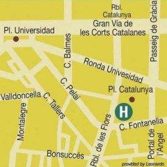 Отель Olivia Plaza Барселона городской автобус