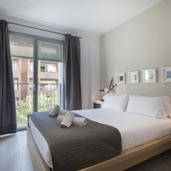 Апартаменты Bbarcelona Apartments Gaudi Flats Барселона комната для гостей фото 4