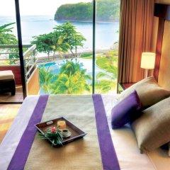 Отель Tahiti Pearl Beach Resort Французская Полинезия, Аруе - отзывы, цены и фото номеров - забронировать отель Tahiti Pearl Beach Resort онлайн комната для гостей фото 4