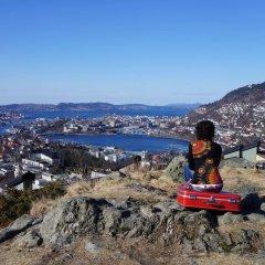 Bergen Hostel Montana Берген приотельная территория