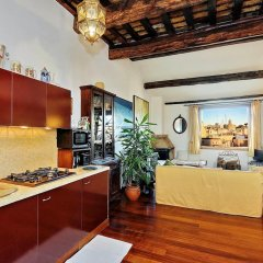 Апартаменты Piazza Mattei Terrace Apartment питание фото 2