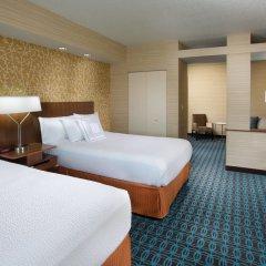Отель Fairfield Inn & Suites by Marriott Columbus OSU США, Колумбус - отзывы, цены и фото номеров - забронировать отель Fairfield Inn & Suites by Marriott Columbus OSU онлайн комната для гостей фото 2