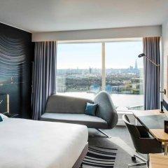 Отель Novotel London Canary Wharf Hotel Великобритания, Лондон - 1 отзыв об отеле, цены и фото номеров - забронировать отель Novotel London Canary Wharf Hotel онлайн комната для гостей фото 5