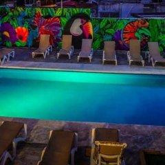 Отель Hostel El Corazon Мексика, Канкун - 1 отзыв об отеле, цены и фото номеров - забронировать отель Hostel El Corazon онлайн бассейн фото 2