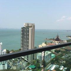 Апартаменты Wong Amat Tower By Liberty Group Apartment Паттайя балкон