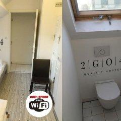 2GO4 Quality Hostel Brussels City Center Брюссель ванная