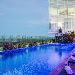 Отель Fiesta Inn Cancun Las Americas Мексика, Канкун - 1 отзыв об отеле, цены и фото номеров - забронировать отель Fiesta Inn Cancun Las Americas онлайн бассейн фото 3