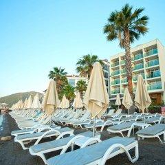 Sol Beach Hotel Турция, Мармарис - отзывы, цены и фото номеров - забронировать отель Sol Beach Hotel - All Inclusive - Adults Only онлайн пляж фото 2
