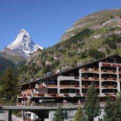 Отель Swiss Alpine Hotel Allalin Швейцария, Церматт - отзывы, цены и фото номеров - забронировать отель Swiss Alpine Hotel Allalin онлайн приотельная территория фото 2
