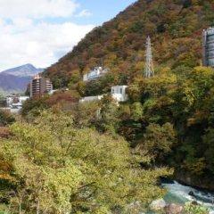 Hotel Shirakawa Yunokura Никко балкон