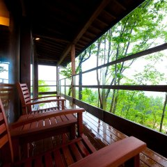 Отель Kusayane no Yado Ryunohige Япония, Хидзи - отзывы, цены и фото номеров - забронировать отель Kusayane no Yado Ryunohige онлайн балкон