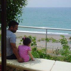 Отель Mavi Cennet Camping Pansiyon Сиде пляж фото 2