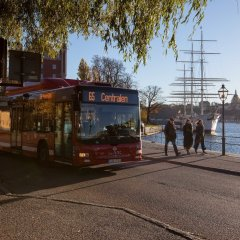 Отель STF af Chapman & Skeppsholmen городской автобус