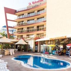 Отель Saint Valentine Болгария, Солнечный берег - отзывы, цены и фото номеров - забронировать отель Saint Valentine онлайн бассейн фото 3