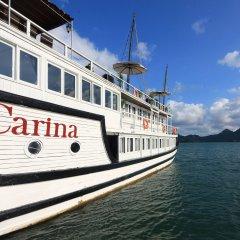 Отель Halong Carina Cruise Вьетнам, Халонг - отзывы, цены и фото номеров - забронировать отель Halong Carina Cruise онлайн приотельная территория фото 2
