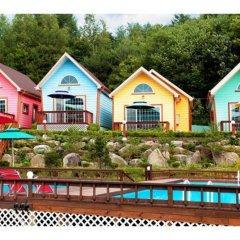 Отель Pyeongchang Sky Garden Pension Южная Корея, Пхёнчан - отзывы, цены и фото номеров - забронировать отель Pyeongchang Sky Garden Pension онлайн бассейн фото 2