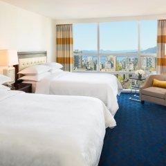 Отель Sheraton Vancouver Wall Centre Канада, Ванкувер - отзывы, цены и фото номеров - забронировать отель Sheraton Vancouver Wall Centre онлайн комната для гостей фото 3